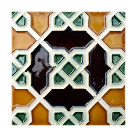 Portuguese Geometric Hispano-Arabe Replica Tiles T9