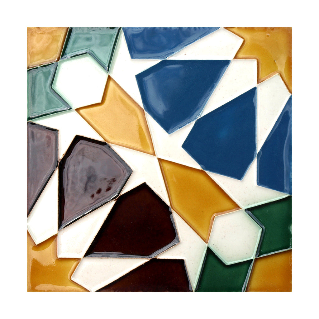 Portuguese Geometric Hispano-Arabe Replica Tiles T37