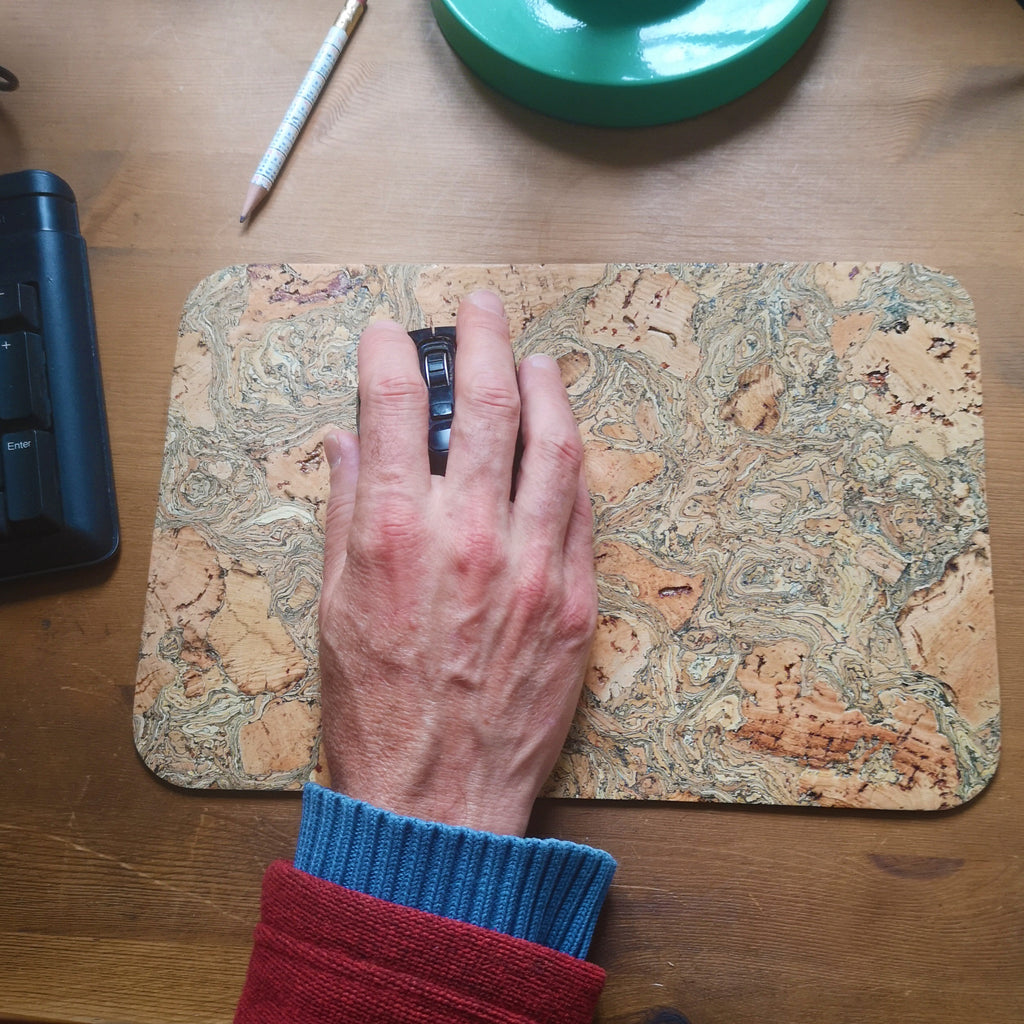Marbled Cork Mouse Pad