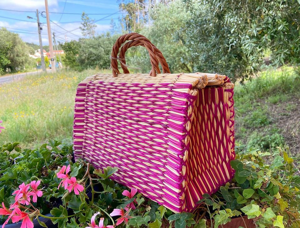 Natural Straw Reed Basket Bag 18
