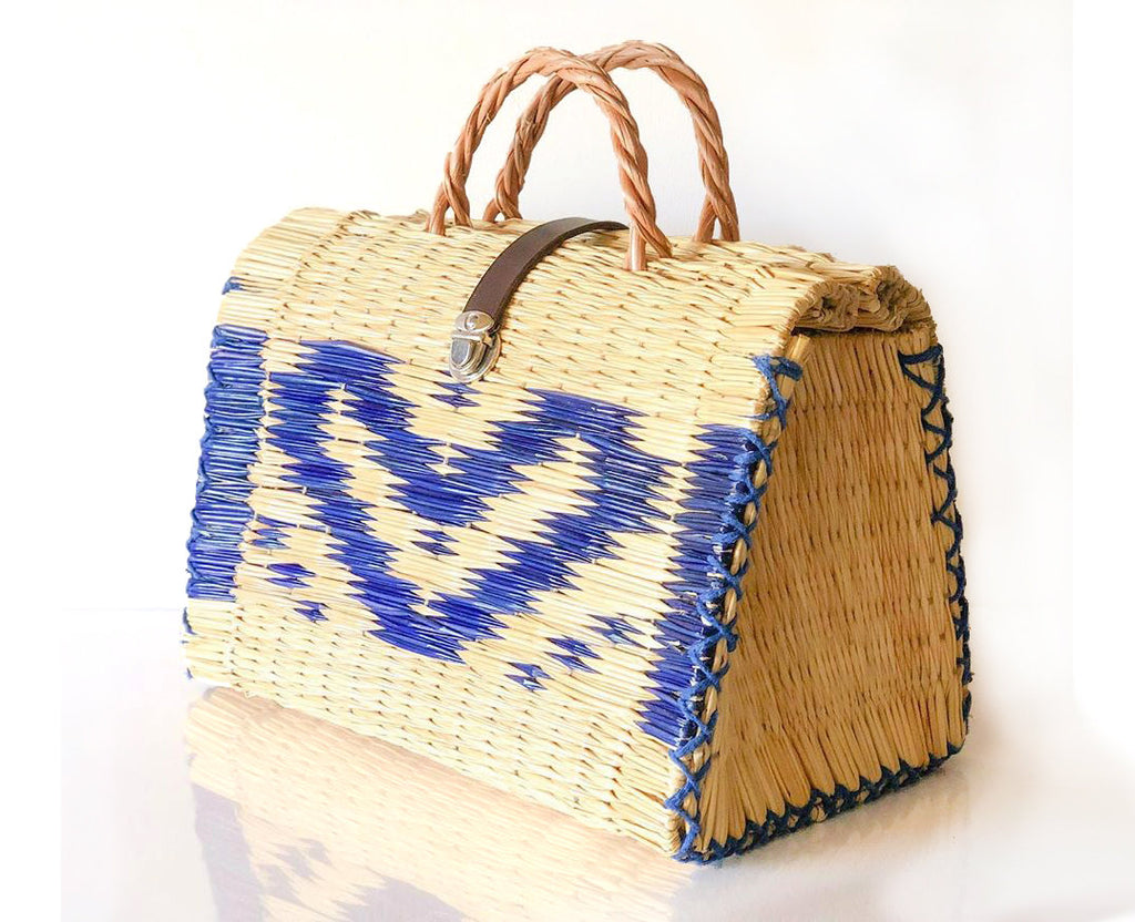 Natural Straw Reed Basket Bag 16
