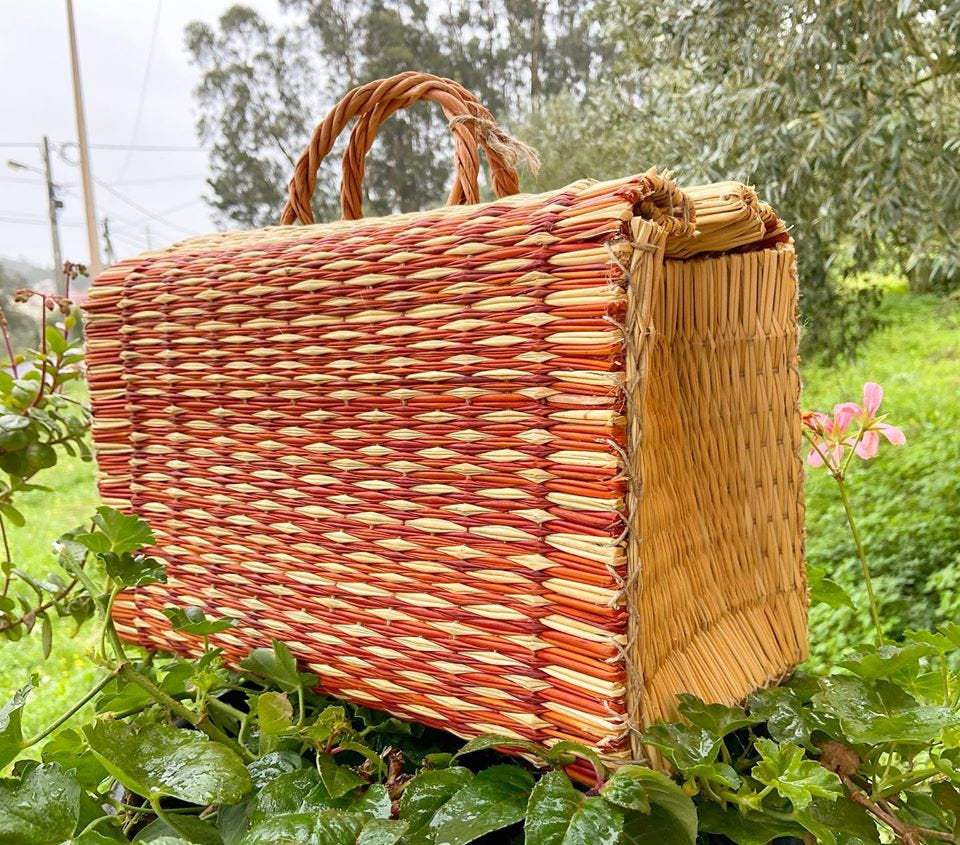 Natural Straw Reed Basket Bag 19