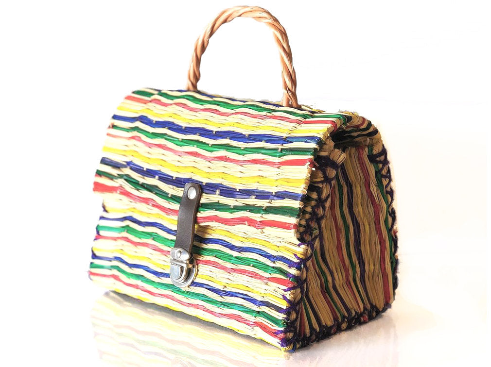 Natural Straw Reed Basket Bag 15