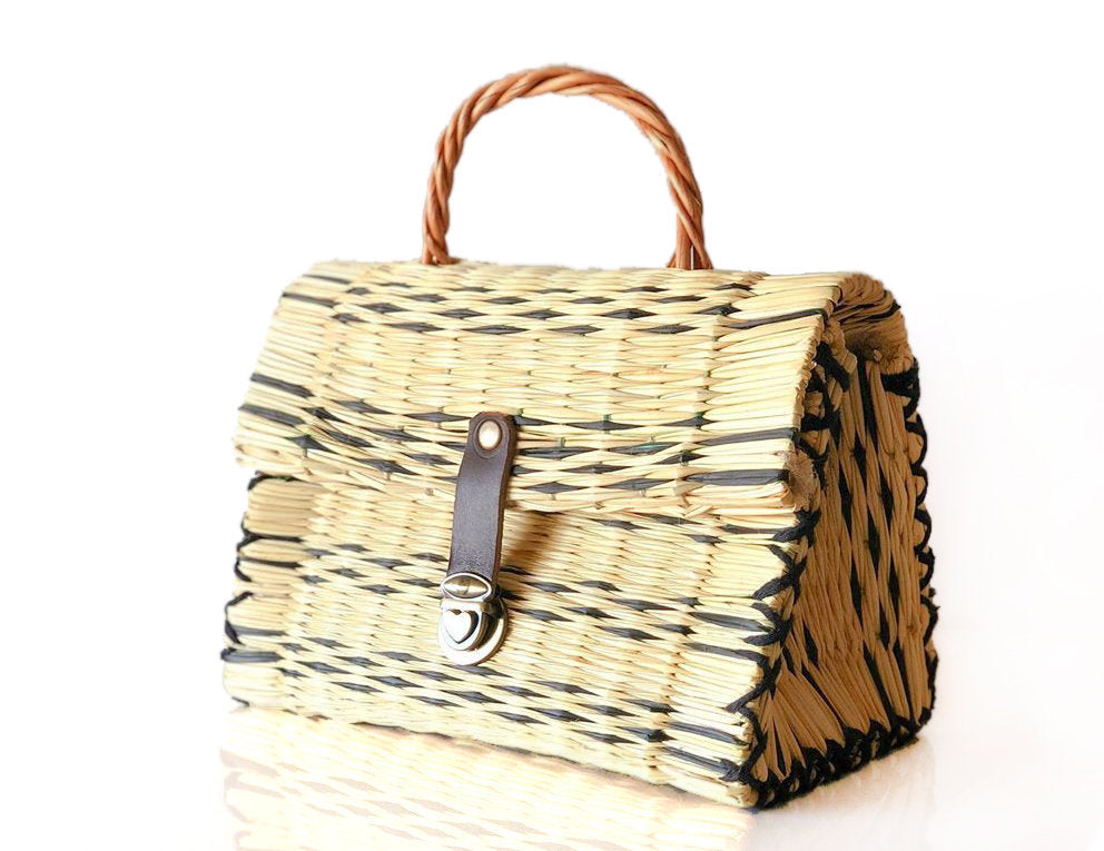 Natural Straw Reed Basket Bag 13
