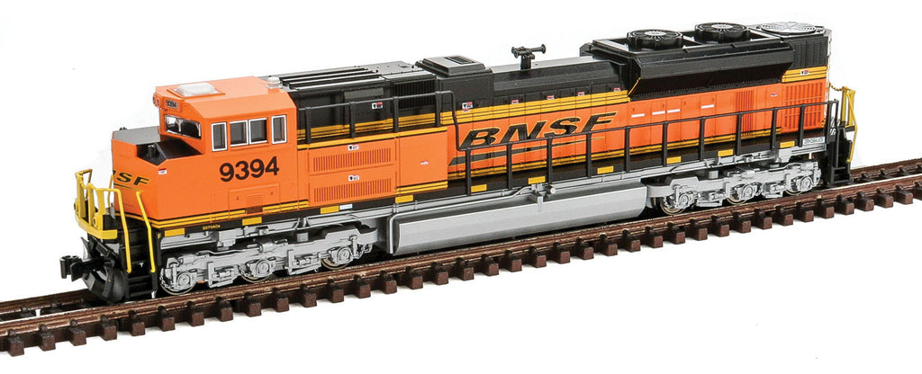 Kato N EMD SD70ACe - Standard DC -- BNSF Railway #9394 (orange, black, Wedge Logo)