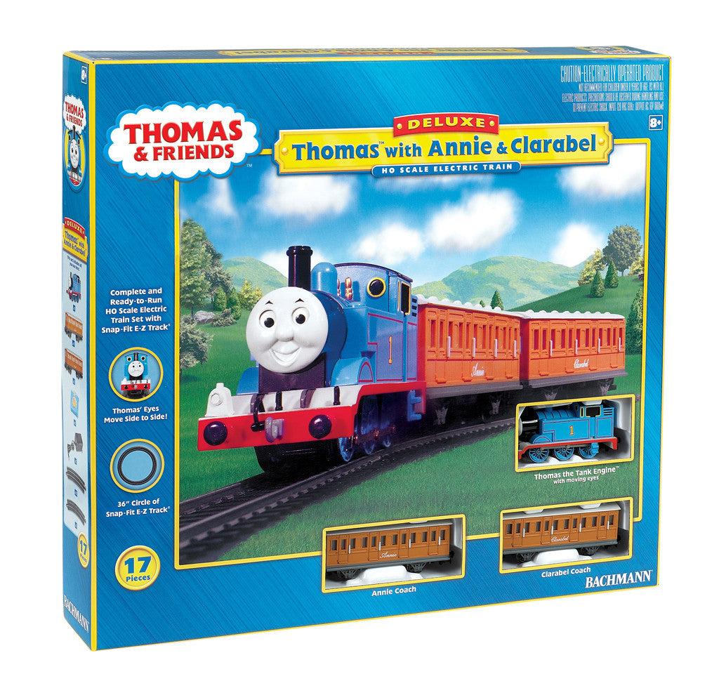 Bachmann HO Thomas the Tank with Annie and Clarabel Engine Train Set
