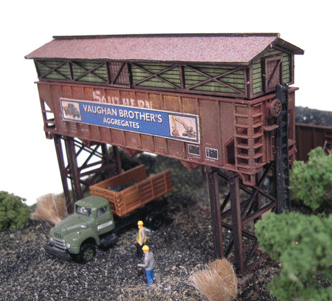 The N Scale Architect - N Gravel & Coal Company Laser-Cut Wood Kit
