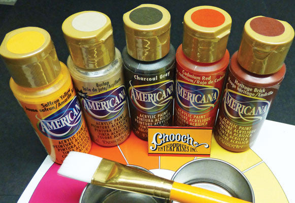 Chooch Enterprises Weathering First Coat Acrylic Paint 5-Color Set
