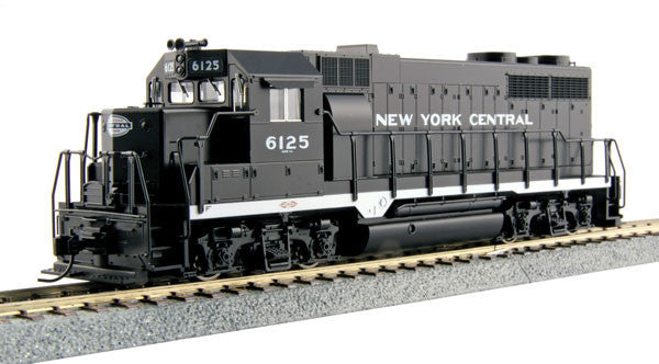 Kato HO EMD GP35 Phase Ia - Standard DC - New York Central #6125 (Black, White)