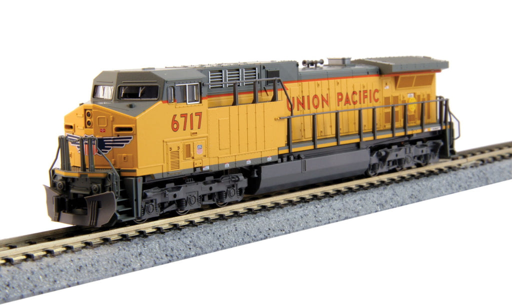 Kato N GE AC4400CW w/DCC - Union Pacific #6717 (Armour Yellow, Gray)