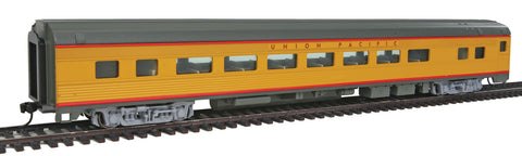 Walthers Mainline HO 85' Budd Large-Window Coach - Ready to Run - Union Pacific (Armour Yellow, gray, red)