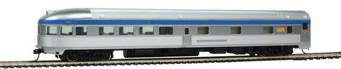 Walthers Mainline HO 85' Budd Observation - Ready To Run - Via Rail Canada (silver, blue, yellow)