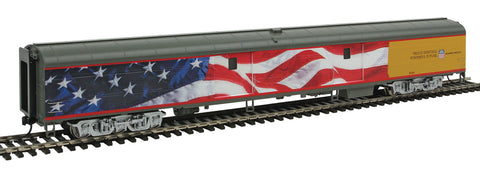 WalthersProto HO 85' ACF Baggage Car - Standard - UP Heritage Series - Union Pacific) #5769 (American Flag Scheme; Armour Yellow, Gray)