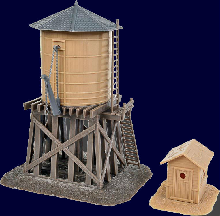 Walthers Trainline HO Water Tower and Shanty Kit