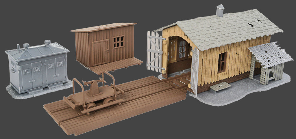 Walthers Trainline HO Trackside Tool Buildings Kit