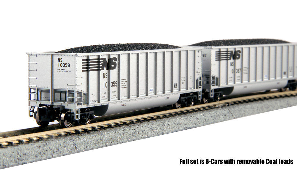Kato N BethGon Coalporter w/Removable Coal Load 8-Pack - Ready to Run - Norfolk Southern