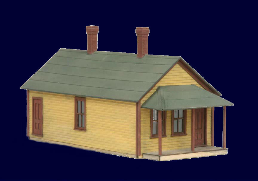 American Model Builders HO One-Story Section Laser-Cut Wood Kit