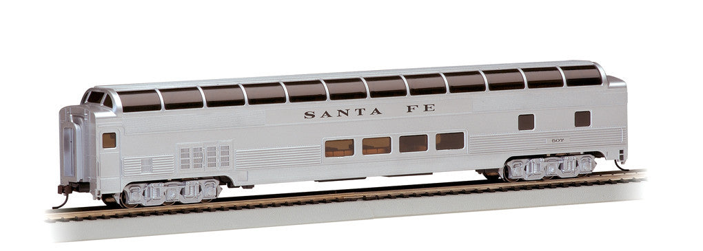 Bachmann HO 85' Budd Full Dome/Lighted, Santa Fe #507