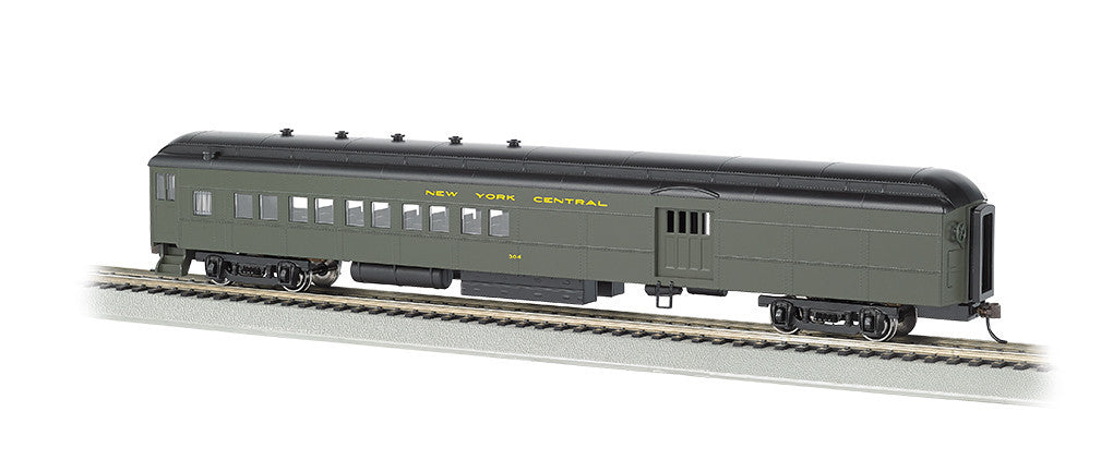 Bachmann HO 72' Heavyweight Combine, NYC® #304 With 4-Window Door (Green & Yellow)