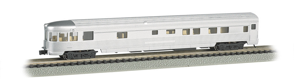 Bachmann N 85' Fluted Streamline Observation w/Light, Unlettered Aluminum