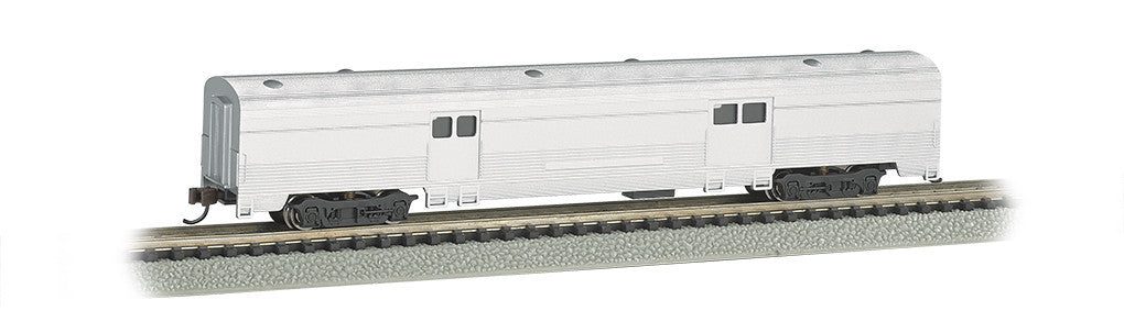 Bachmann N 72' Fluted Streamline 2-Door Baggage,Unlettered Aluminum