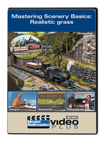 Kalmbach Publishing Model Railroader Video Plus DVD -- Mastering Scenery Basics: Realistic Grass