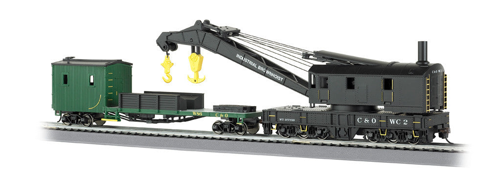 Bachmann HO 250-Ton Steam Crane w/Boom Tender, Chesapeake & Ohio®