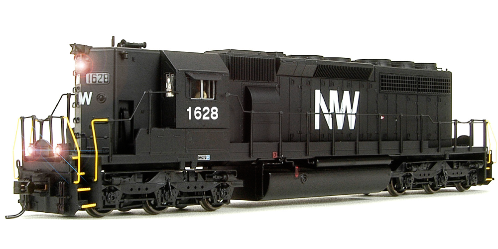 BROADWAY LIMITED IMPORTS HO EMD SD40-2 N&W 1628 W/SOUND
