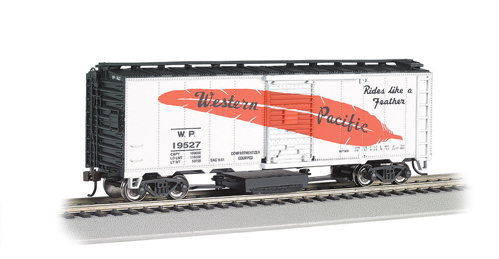 Bachmann HO Track Cleaning Box, Western Pacific (Feather Car)
