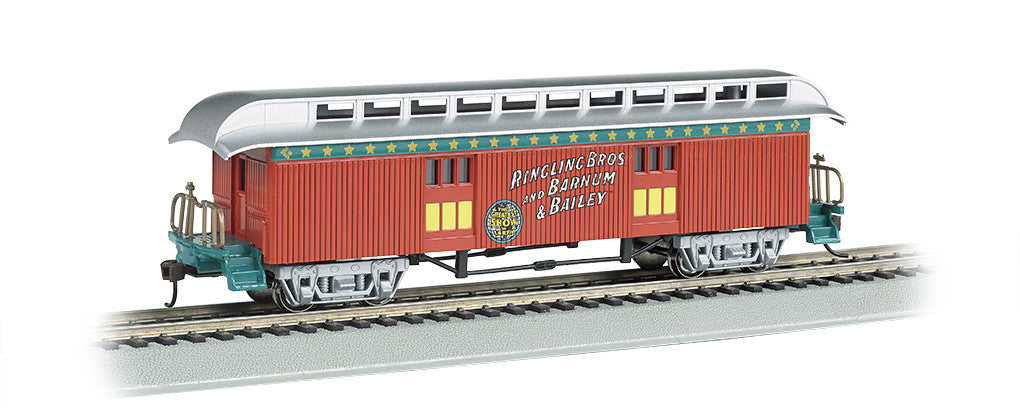 Bachmann HO Old Time Baggage Car (1860-80 era) - Ringling Bros. and Barnum & Bailey™