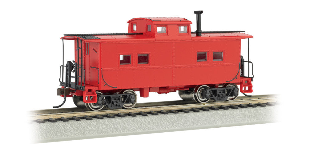 Bachmann HO Northeast Steel Caboose, Unlettered/Red