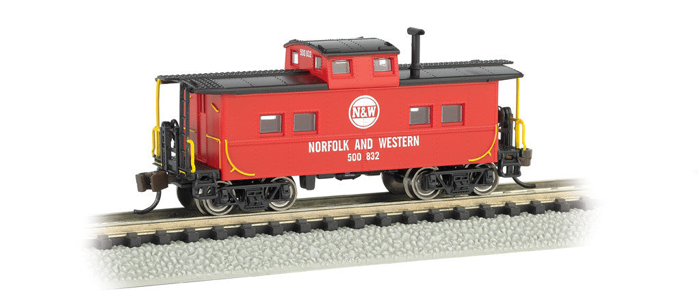 Bachmann N Northeast Steel Caboose, Norfolk & Western (Red)