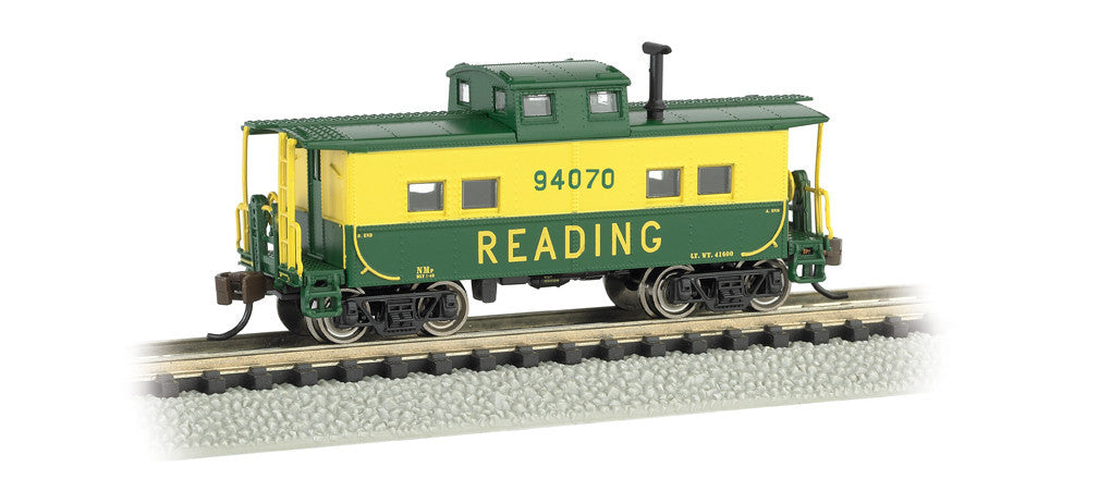 Bachmann N Scale Northeast Steel Caboose, Reading #94070 (Green & Yellow)