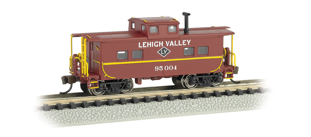 Bachmann N Scale Northeast Steel Caboose, Lehigh Valley #95004 (Tuscan Red)