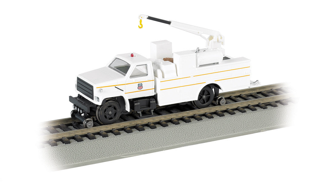 Bachmann HO Hi-Rail Truck w/DCC & Crane, Union Pacific® White/Yellow