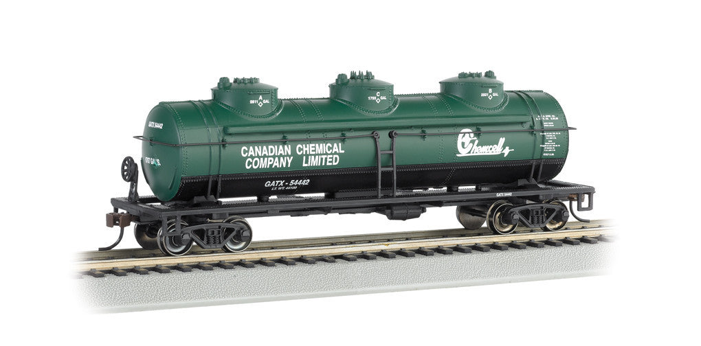 Bachmann HO 40' Three Dome Tank Car, Cook Paint & Varnish Co.