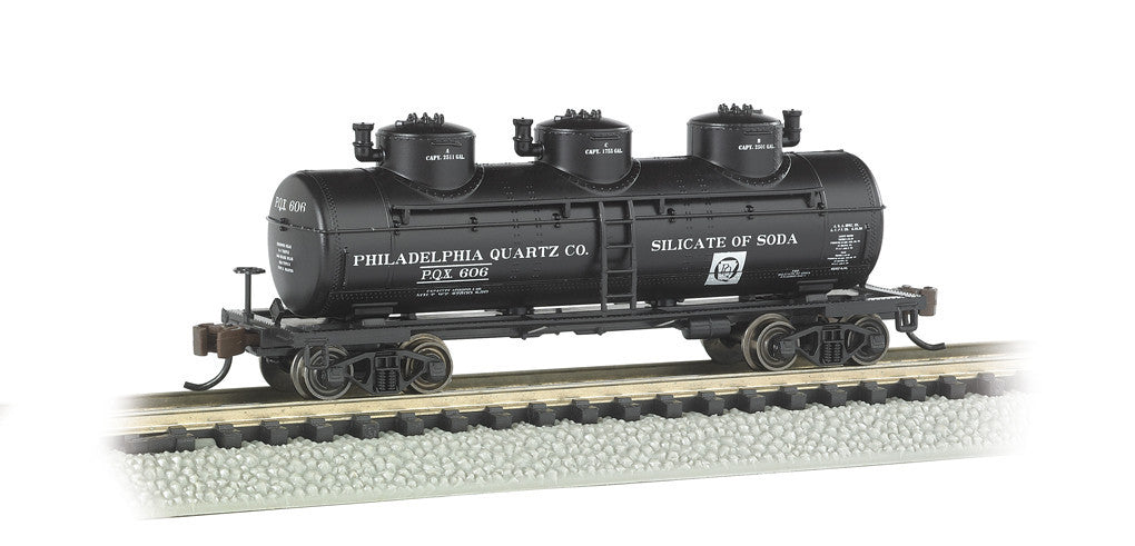 Bachmann N 3-Dome Tank, Philadelphia Quartz Co.