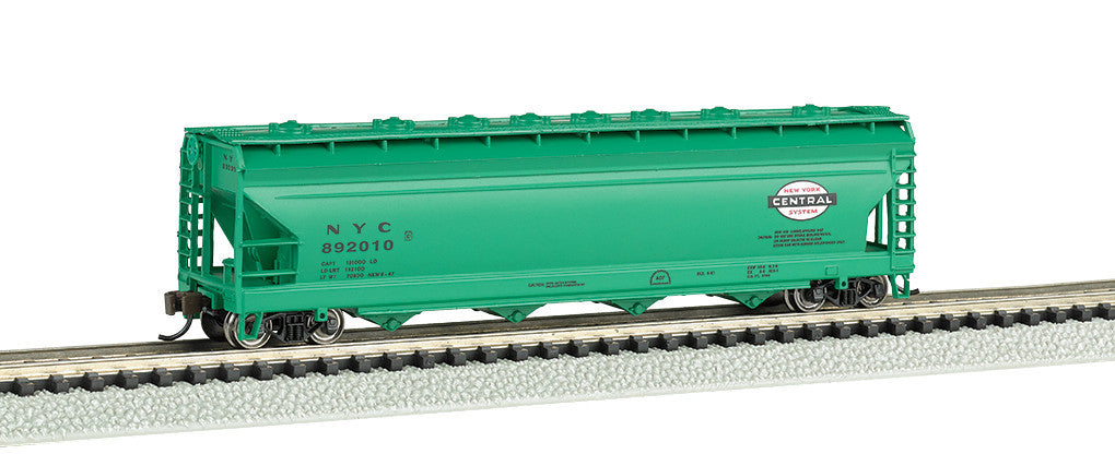 Bachmann N ACF 56' 4-Bay Center Flow Hopper, New York Central