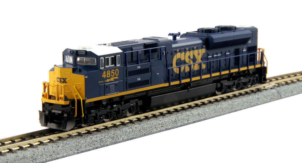 Kato N EMD SD70ACe - Standard DC -- CSX #4850 (Dark Future, blue, yellow)