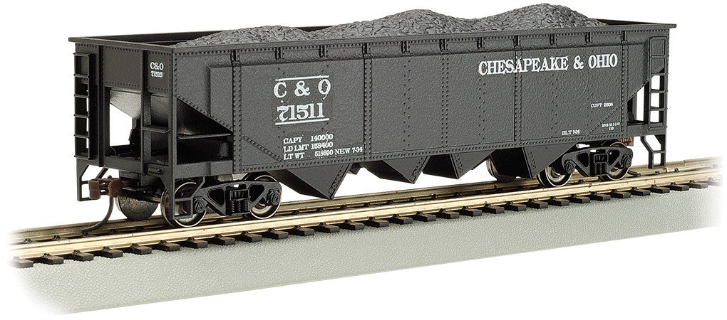 Bachmann HO HO 40' Quad Hopper, Chesapeake & Ohio #71511