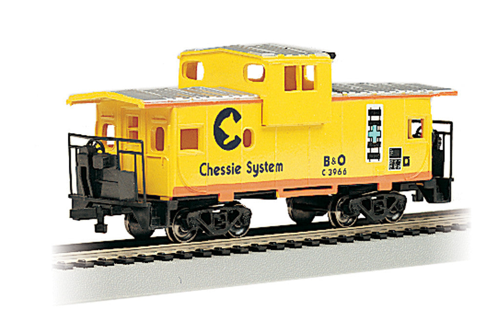 Bachmann HO 36' Wide Vision Caboose, Chessie® - Yellow