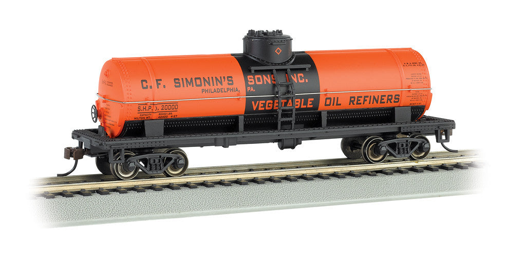 Bachmann HO 40' Single Dome Tank, C.F. Simonin's Sons, Inc.