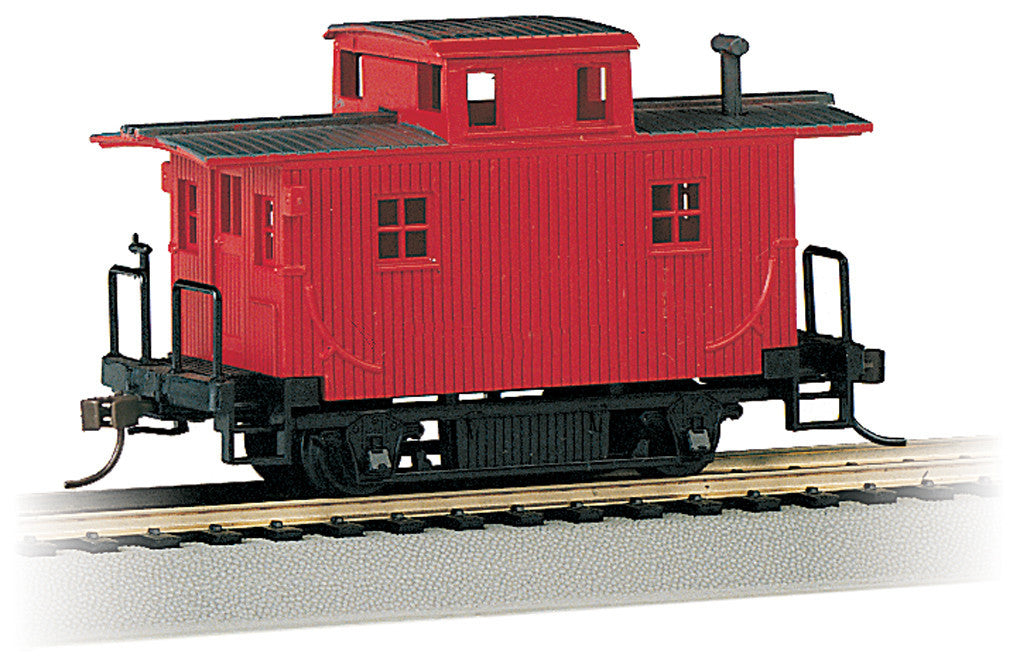 Bachmann HO Bobber Caboose, Red, Painted, Unlettered