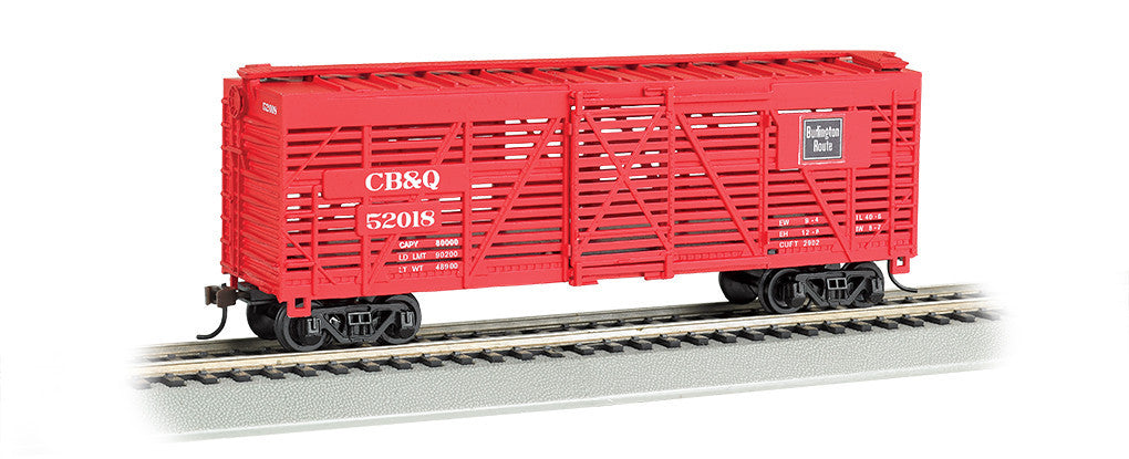 Bachmann HO 40' Stock Car, CB&Q