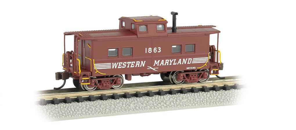 Bachmann N Northeast Steel Caboose, Western Maryland® #1863 (Speed Lettering)