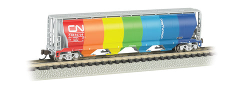 Bachmann N 4-Bay Cylindrical Grain Hopper, CN - Demonstrator