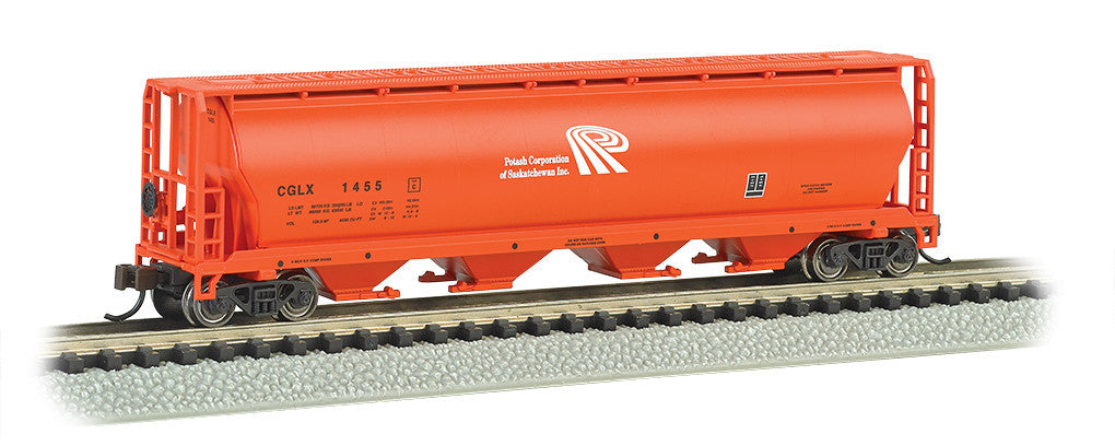 Bachmann N 4-Bay Cylindrical Grain Hopper, Potash