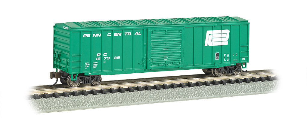"Bachmann N ACF 50' 6"" Outside Braced Box Car, Penn Central"