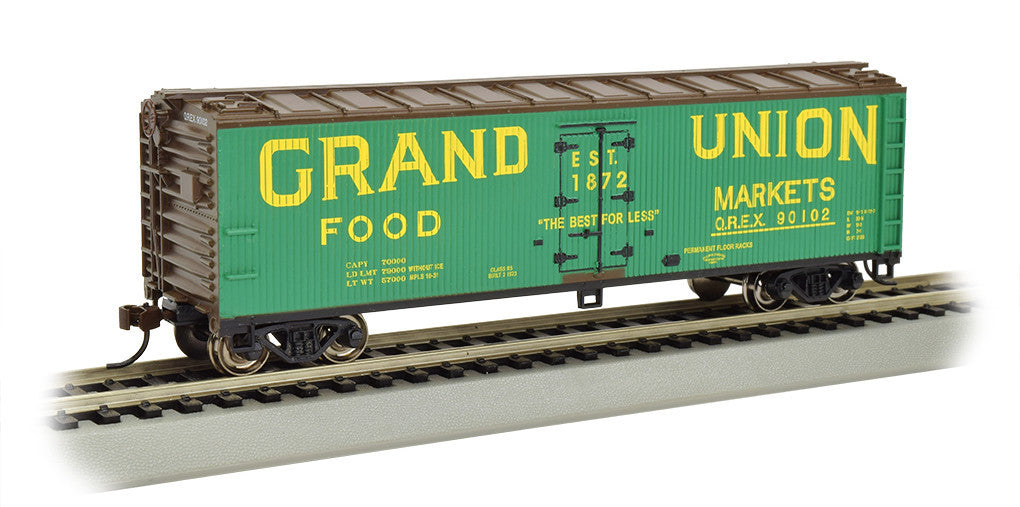 Bachmann HO 40' Wood-Side Refrigerated Reefer, Grand Union