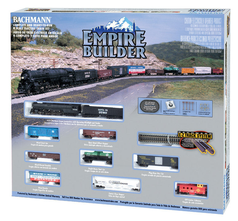 Bachmann N Scale Northern 4-8-4 Empire Builder Train Set, Atchison, Topeka & Santa Fe
